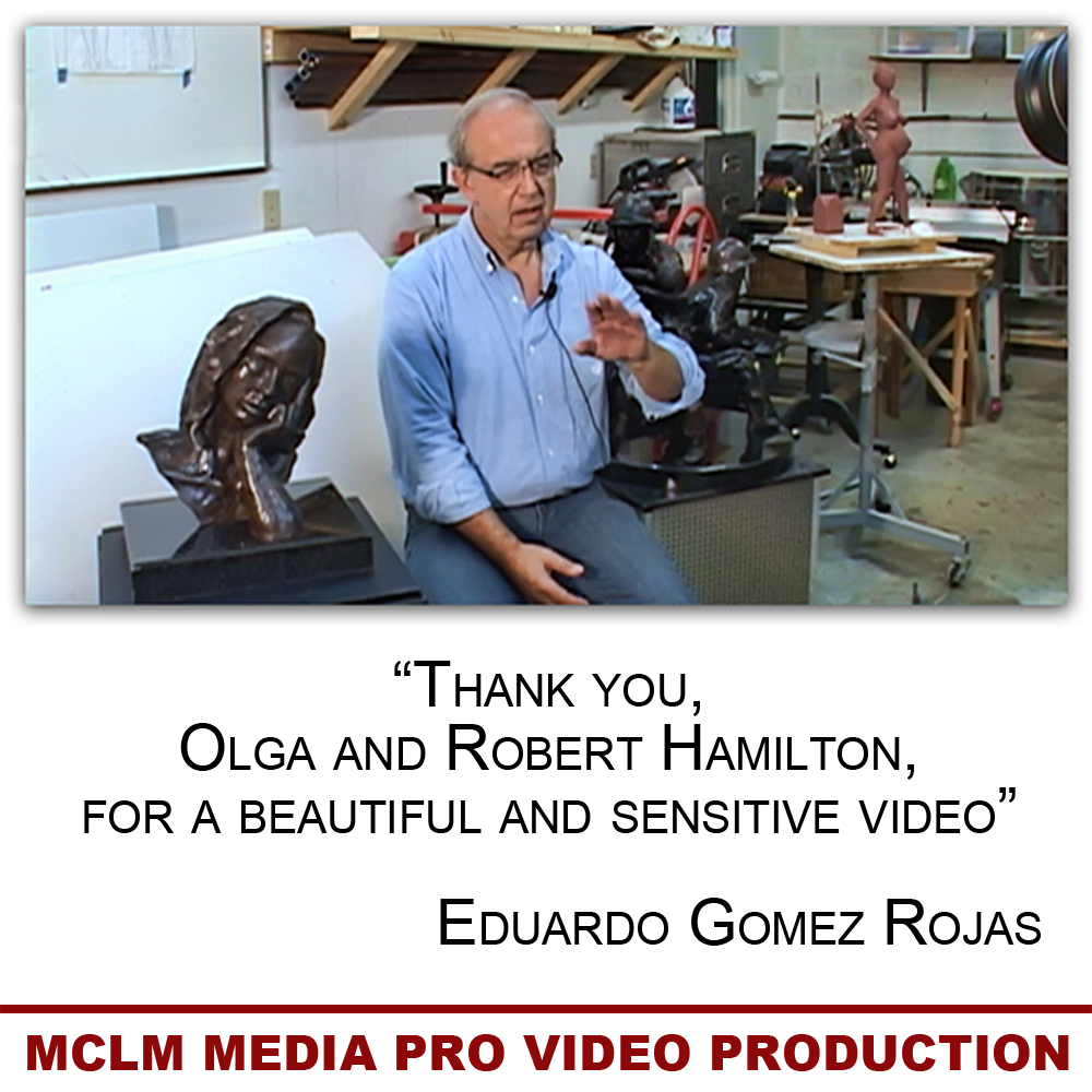 Eduardo Gomez Rojas, Martin County Sculptor, MCLM Media Pro Video Production and Social Media Marketing on the Treasure Coast
