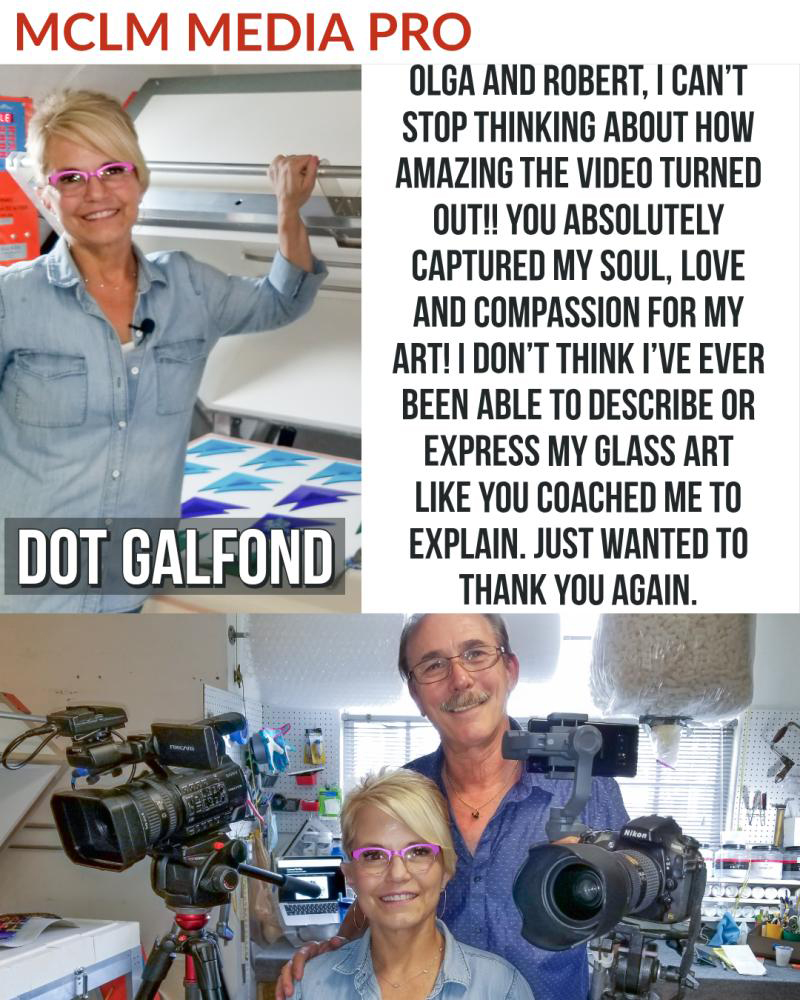 Dot Galfond Glass Artist in Martin County. MCLM Media Pro Digital Marketing, Photography, and Video Production on the Treasure Coast
