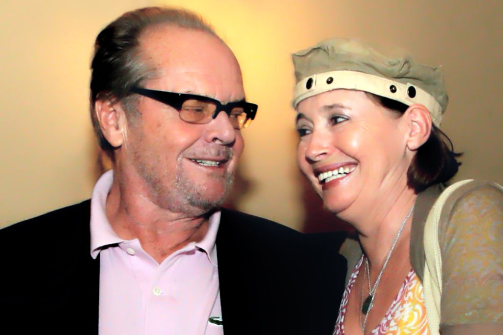 Danuta Rothschild and Jack Nicholson