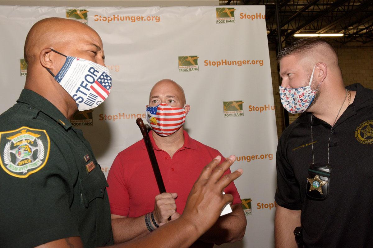 IRC Sheriff's Office Major Milo Thornton, Congressman Brian Mast, and SLC Deputy Matt Brewster