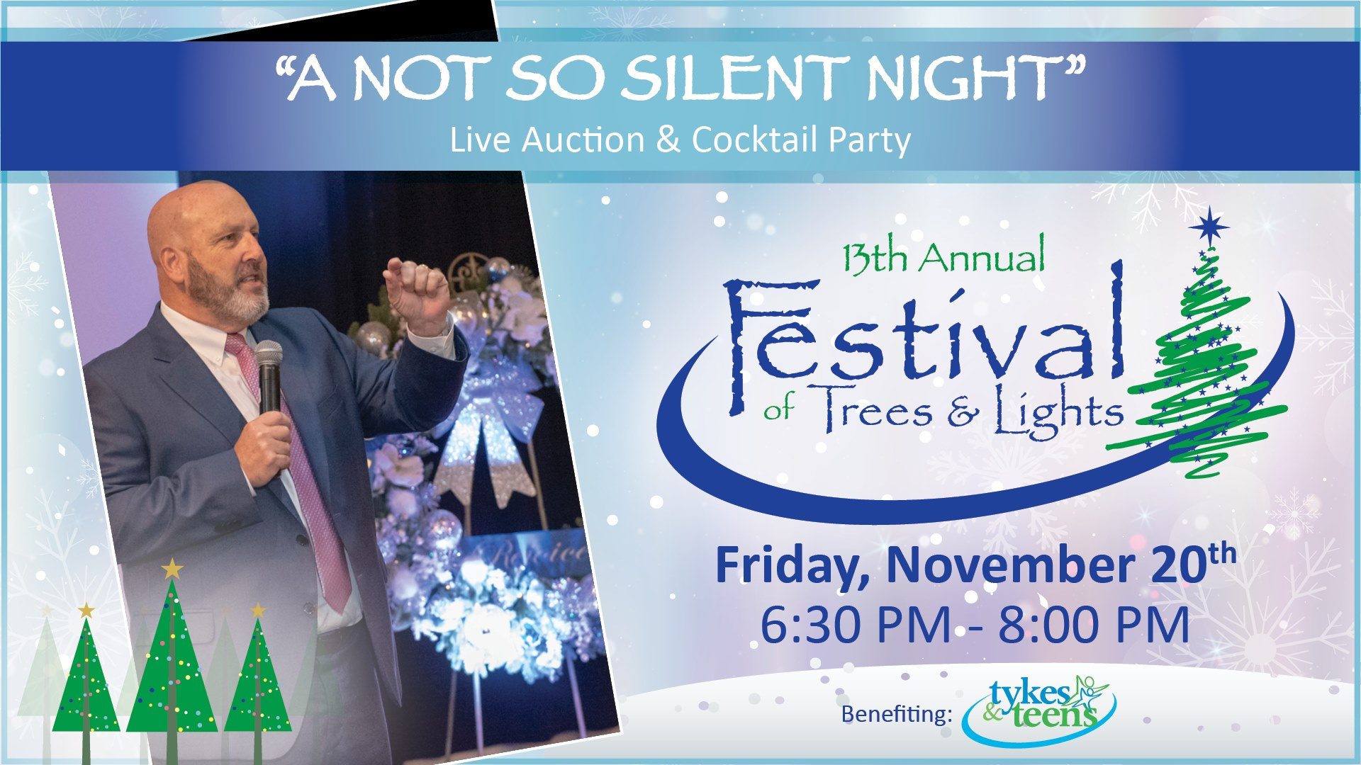 """Tykes & Teens """"A Not So Silent Night"""" Live Auction & Cocktail Party"""