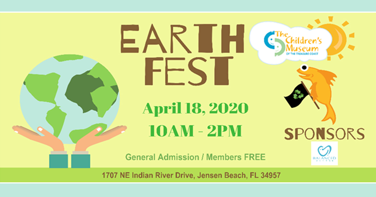 Earth Day Celebration at the The Children's Museum of the Treasure Coast April 18th. MCLM Media Pro Digital Marketing in Stuart, Florida